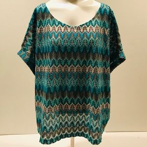 H&M Knitted Top Shirt Blouse Abstract Geometric